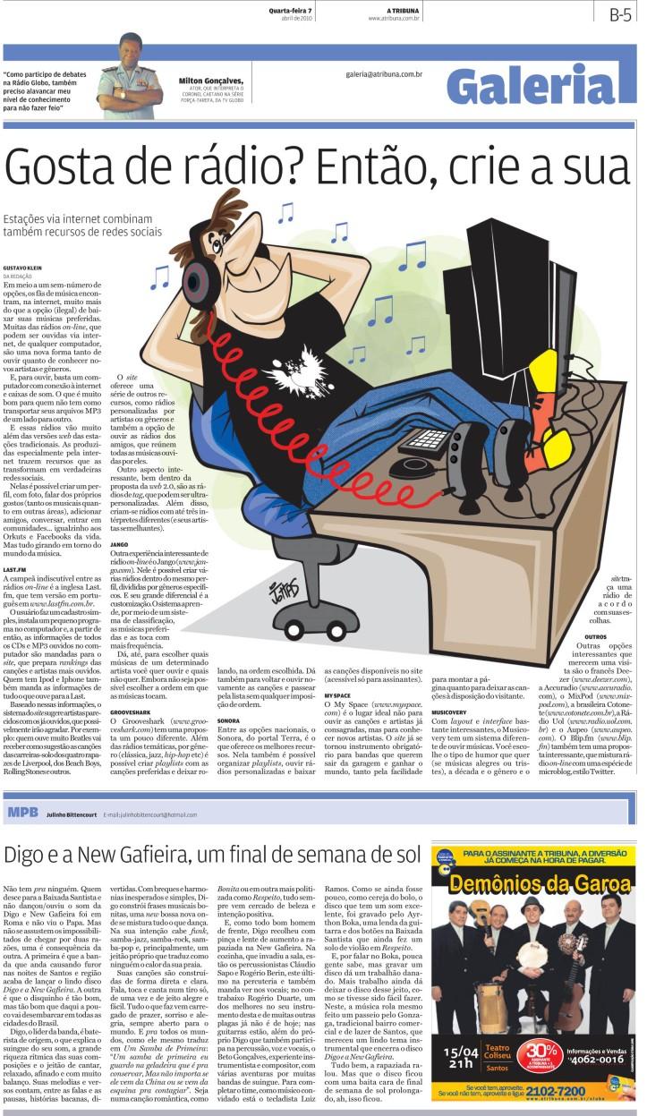 Ilustração criada para a editoria de Galeria do jornal A Tribuna de Santos