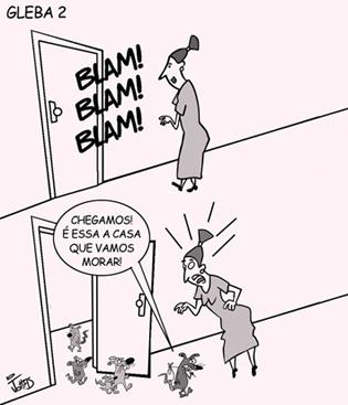 Charge publicada no jornal Expresso Popular