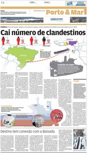 Página criada para o jornal A Tribuna de Santos
